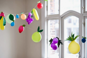 frutas globos